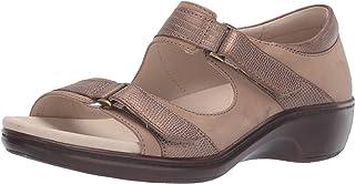 Aravon Women's Duxbury Two Strap Sandal, Taupe, 7.5 2E US