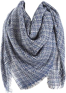 XueXian Womens Ladies Knitted Large Scarf Shawl Chunky Scarves Tassel Pashmina