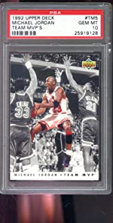 1992-93 Upper Deck Team MVP #5 Michael Jordan PSA 10 Graded Basketball Card