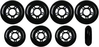 Player's Choice Inline Skate Wheels Hilo Set 72mm / 80mm 82A Black Outdoor Hockey Roller Hockey