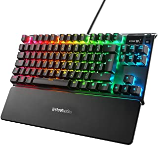 Steelseries Apex 7 TKL, Tastiera Meccanica per Videogiochi, Forma Compatto, Smart Display OLED, Switch Marroni, Layout QWE...