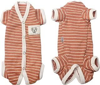 TONY HOBY Female/Male Pet Dog Pajamas Stripes 4 Legged Dog pjs Jumpsuit Soft Cotton Dog Clothes