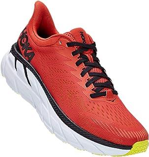 HOKA ONE ONE M Clifton 7 Chili/Black Sneaker Running Uomo