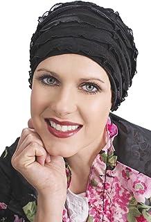 Headcovers Unlimited Ruffle Sleep Cap for Women - Cancer, Chemo, Hair Loss Sleeping Caps