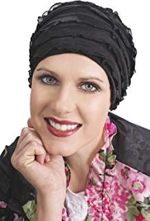 Headcovers Unlimited Ruffle Sleep Cap for Women - Cancer, Chemo, Hair Loss Sleeping Caps