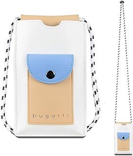 Bugatti Almata Handytasche zum Umhängen Damen, kleine Umhängetasche, Schultertasche für den Alltag, Weiß