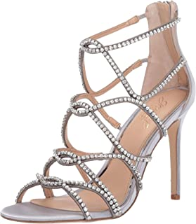 silver sandal heels for wedding