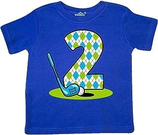 inktastic Argyle Golf 2nd Birthday Toddler T-Shirt