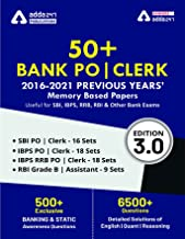 50 Bank PO and Clerk 2016 2021 Previous Years Memory Based Papers Book English Printed Edition