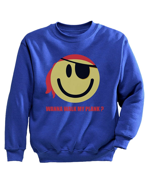 Tstars - キュートパイレーツスマイリー カワイイスマイリーシャツギフト ユニークスマイリープレゼント 愉快スマイリーギフト キッズスウェットシャツ
