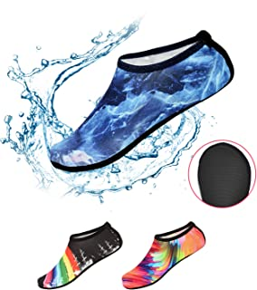 Water Sports Shoes, Aqua Socks Non Slip Quick Dry for Beach Surfing Swimming Yoga Exercise, Rubber Sole for Men Women Kids