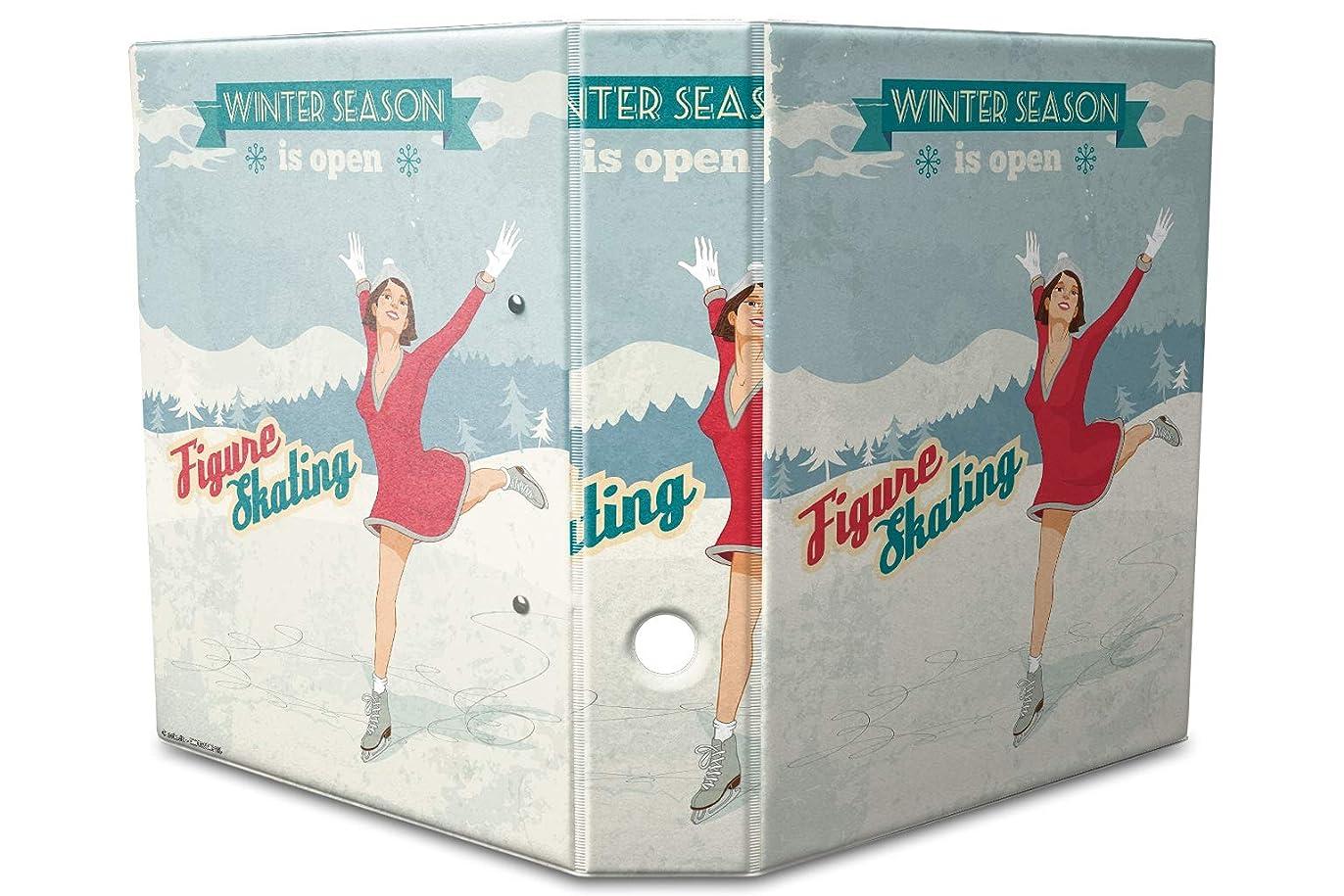 誘う独立して大西洋バインダー 2 Ring Binder Lever Arch Folder A4 printed Seasonal ice skates