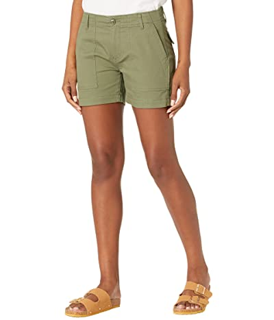 Liverpool Utility Shorts w/ Flap Pockets in Olive Moss