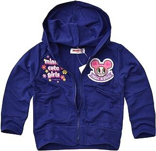 (ミニケー) MINI-K パーカージャケット 女の子 裏毛 トドラー キッズ ジップパーカ 長袖 薄手 スエット ジャンバー