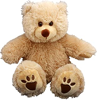 """Make Your Own Stuffed Animal 16"""" """"Furry Brown Bear - No Sew - Kit with Cute Backpack!"""