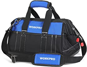 WORKPRO 16-inch Wide Mouth Tool Bag with Water Proof Molded Base