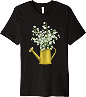 Lily Of The Valley Bouquet Spring Flower Watercolor Gift Premium T-Shirt