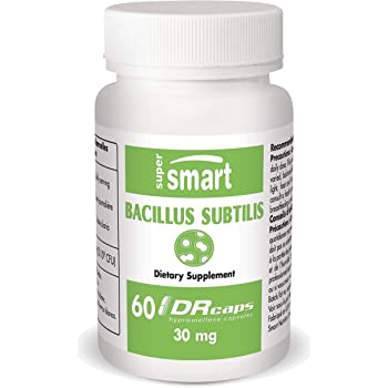 Supersmart - Bacillus Subtilis 3.1 Billion CFU - Probiotic Strain - Improve Natural Defences & Help with External Infection | Non-GMO - 60 DR Capsules