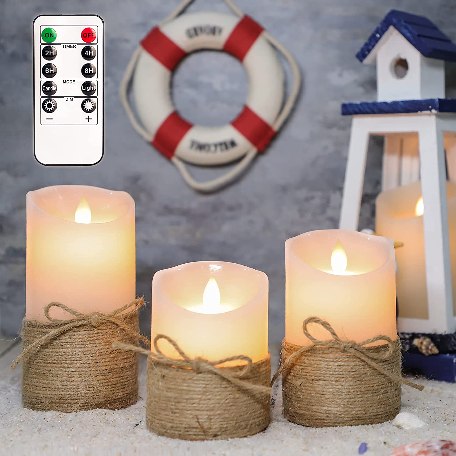 SILVERSTRO Flameless Candles with Remote, D3.11