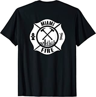 Miami Florida Fire Rescue Department Firefighters Duty T-Shirt