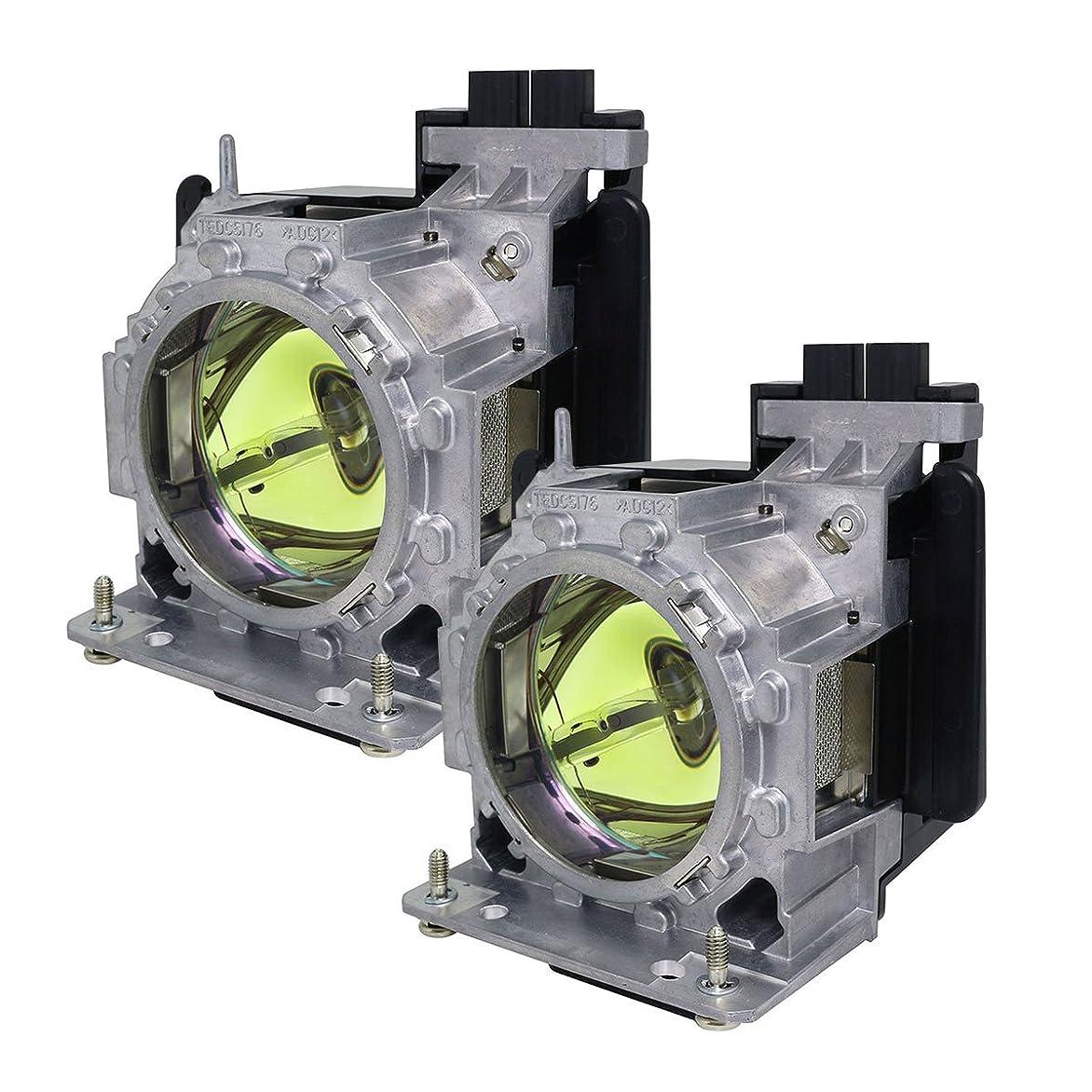 骨髄寄生虫部族Panasonic プロジェクター用交換ランプ ET-LAD310W 純正バルブ採用ランプユニット(2灯セット)