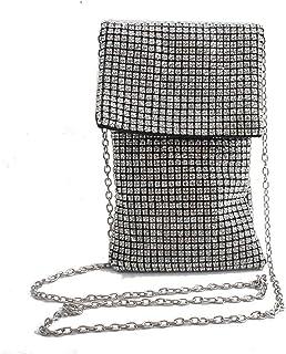 YXFYXF Paquete de Diamantes de imitación para Mujer Moda Salvaje de la Cadena de la Cadena de la Bolsa de Mensajero (Color...