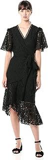 Keepsake The Label Women's Eternal Lace Short Sleeve Wrap Midi Dress