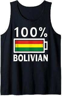 Bolivia Flag Design   100% Bolivian Battery Power Tee Tank Top