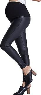Best maternity black leather leggings Reviews
