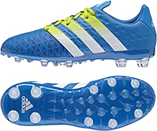 Adidas Soccer Cleats Size 1.5 - Ace 16.1 FG/AG Junior, Blue/White/Green