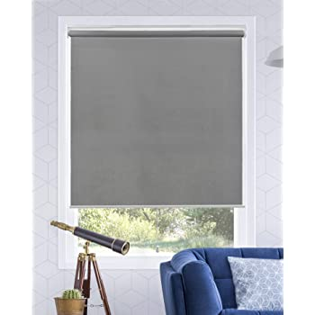 CHICOLOGY Everyday Cordless Zebra Shades Light Filtering Dual Layer Window Treatment Perfect for Living Room// Bedroom// Kitchen and More-55 W X 72 H Basic Arctic