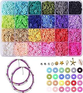 Queta - Set di accessori per la fabbricazione di gioielli, 5400 pezzi di perline di argilla polierica, kit fai da te, per ...