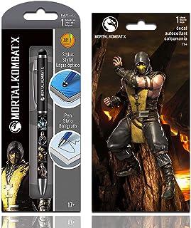 InkWorks Mortal Kombat Stylus Pen Set with Decal Sticker (Mortal Kombat Merchandise)