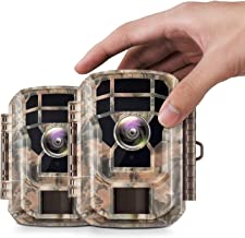 【2 Pack 】 Campark Mini Trail Camera 16MP 1080P HD Game Camera Waterproof Wildlife Scouting Hunting Cam with 120° Wide Angl...
