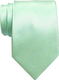 Herringbone Stripe Woven Men's Tie Necktie - Various Colors