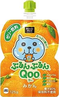 コカ・コーラ ミニッツメイド ぷるんぷるんQoo クー みかん ゼリー飲料 パウチ 125g×6本