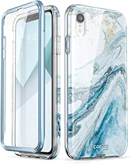 i-Blason Cosmo Full-Body Bumper Case for iPhone XR 2018 Release, Blue Marble, 6.1