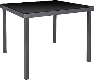 60x60x71 cm Rojaplast 608 Mesa de Jard/ín de Acero del Patio Negro