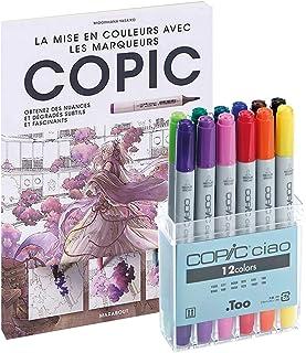 COPIC Kit de Dessin Ciao Set 12 marqueurs + Livre, Assortie
