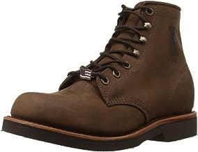 worn chippewa boots