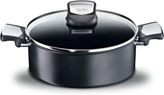 Tefal Expertise - Cacerola 26 cm y 4.7 L de capacidad, con tapa,  antiadherente con extra de titanio, aptas para todo tipo de cocinas incluido inducción