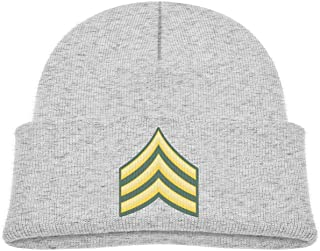 ADGoods Kids Children US Army Sergeant E-5 Beanie Hat Knitted Beanie Knit Beanie For Boys Girls Gorra de béisbol para niños