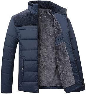 Surprise-Show Winter Cashmere Blouson Homme Stand Collar Business Coat Keep Warm Thick Splice Cotton Jacket