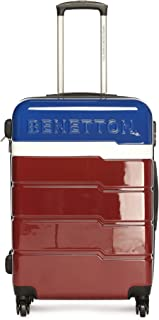 United Colors of Benetton Multi Color Polycarbonate 60 cms Blue/White/Red Hardsided Check-in Luggage (0IP6MP24HL03I)