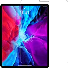 Jump Start Screen Protector for iPad Pro 12.9-Inch 2020 (Easy Install Design) Screen Guard Ballistic Tempered Glass with Advanced Touch Sensitive HD Clarity Designed for iPad Pro 2020/2018 (12.9 inch)
