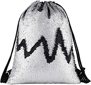 Beach Bag Outdoor Fitness Bag Sequins Bunch Pocket Female Drawstring Backpack