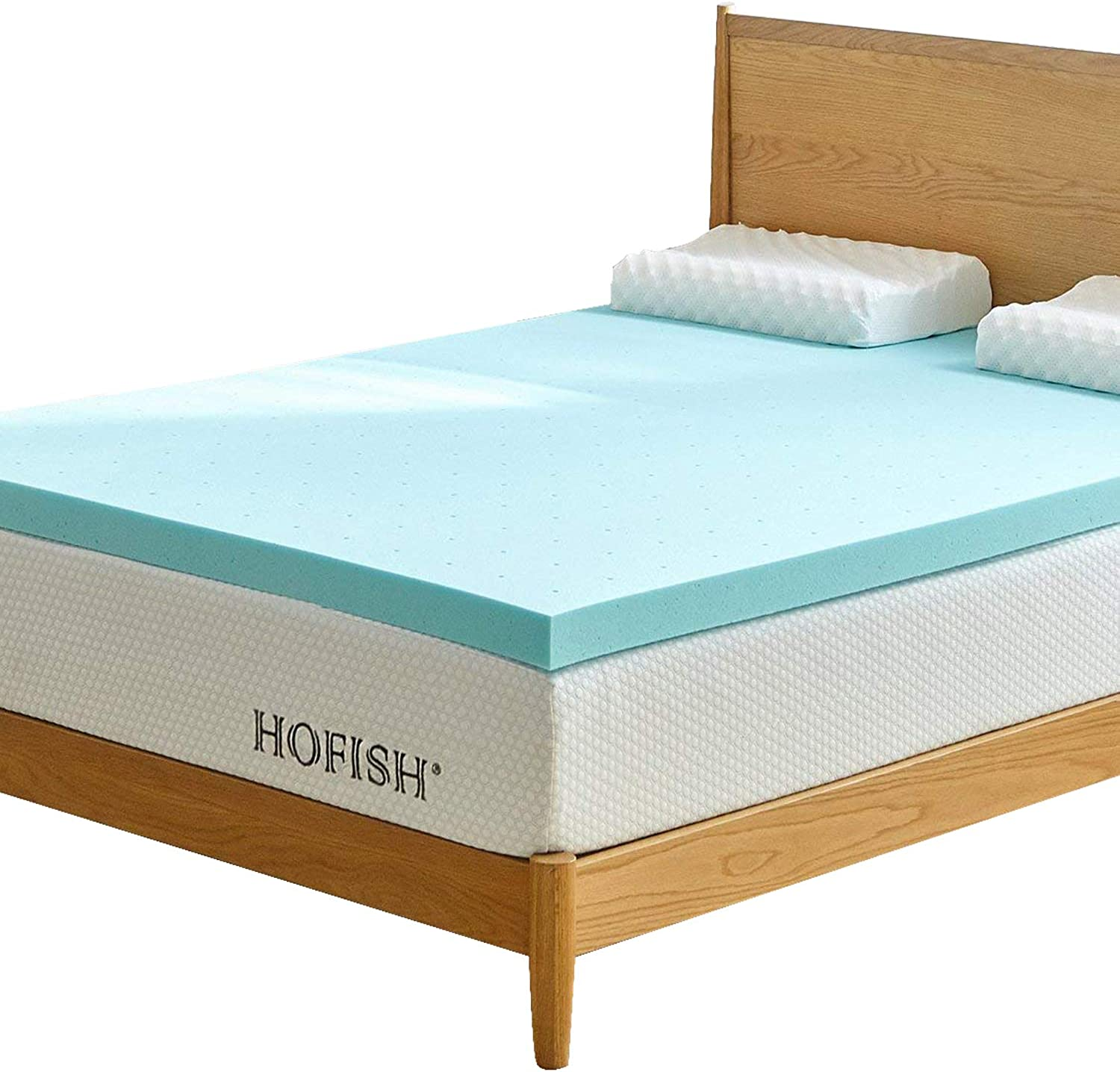 HOFISH 3 inch Gel Memory Foam Mattress Topper Twin