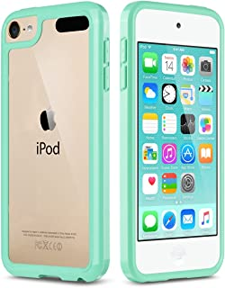 ULAK iPod Touch Case 7th Generation, itouch 6 Case, Slim Hybrid Hard PC Back Cover with Shock Absorption Bumper Conner, Premium Protective Cases for iPod Touch 7th/6th/5th Generation, Green