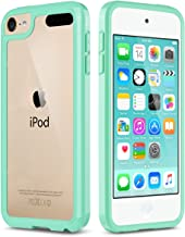 ULAK iPod Touch 6 Case, iPod Touch 7 Case, Slim Fit Hybrid Bumper TPU/Scratch Resistant Hard PC Back/Corner Shock Absorption Case for Apple iPod Touch 5th 6th 7th Generation, Green
