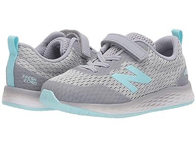 New Balance Kids Fresh Foam Arishi v3 Bungee (Infant/Toddler) (Silver Mink/Bali Blue) Girls Shoes